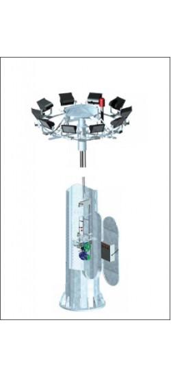 Tek Yönlü Asansörlü Mekanizmalı Projektör Direği